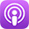 Apple Podcast Icon purple